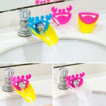 Kids Toddler Children Water Tap Crab Pattern Faucet Extender Washing Hands Bathroom Sink Faucets