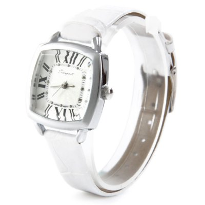 Prospect 1432 Japan Movt Female Quartz Watch with Leather Band Square Dial