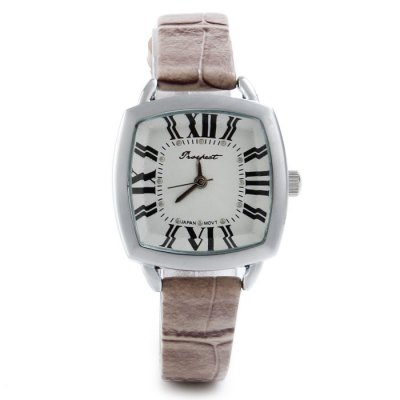 Фотография Prospect 1432 Japan Movt Female Quartz Watch with Leather Band Square Dial