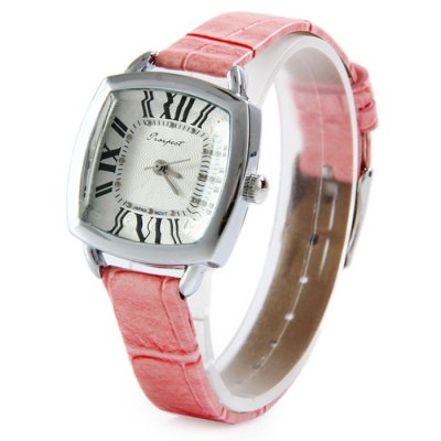 Гаджет   Prospect 1432 Japan Movt Female Quartz Watch with Leather Band Square Dial