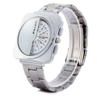 Paidu 58913 Japan Movt Male Quartz Watch Rotational Scale Wristwatch with Steel Band