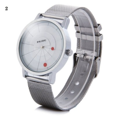 Paidu 58890 Japan Movt Male Rotational Quartz Watch Steel Net Strap WristwatchMens Watches<br>Paidu 58890 Japan Movt Male Rotational Quartz Watch Steel Net Strap Wristwatch<br><br>Brand: Paidu<br>Watches categories: Male table<br>Watch style: Fashion<br>Movement type: Quartz watch<br>Shape of the dial: Round<br>Display type: Analog<br>Case material: Stainless steel<br>Band material: Steel<br>Clasp type: Pin buckle<br>The dial thickness: 0.8 cm / 0.31 inches<br>The dial diameter: 4.0 cm / 1.57 inches<br>The band width: 2.0 cm / 0.79 inches<br>Wearable Length:: 18 - 23 cm / 7.09 - 9.06 inches<br>Product weight: 0.051 kg<br>Package weight: 0.101 kg<br>Product size (L x W x H): 24.2 x 4 x 0.8 cm / 9.51 x 1.57 x 0.31 inches<br>Package size (L x W x H): 25.2 x 5 x 1.8 cm / 9.90 x 1.97 x 0.71 inches<br>Package Contents: 1 x Paidu 58890 Watch