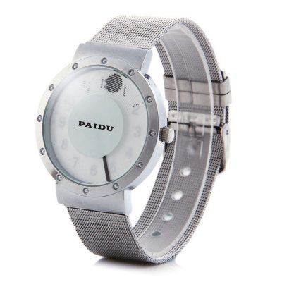 Paidu 58920 Japan Movt Male Quartz Rotational Wristwatch Steel Net Band WatchMens Watches<br>Paidu 58920 Japan Movt Male Quartz Rotational Wristwatch Steel Net Band Watch<br><br>Brand: Paidu<br>Watches categories: Male table<br>Watch style: Fashion<br>Available color: Black, White<br>Movement type: Quartz watch<br>Shape of the dial: Round<br>Display type: Analog<br>Case material: Stainless steel<br>Band material: Steel<br>Clasp type: Pin buckle<br>The dial thickness: 0.7 cm / 0.28 inches<br>The dial diameter: 4.1 cm / 1.61 inches<br>The band width: 2.0 cm / 0.79 inches<br>Wearable Length:: 17.5 - 21.5 cm / 6.89 - 8.46 inches<br>Product weight: 0.058 kg<br>Package weight: 0.108 kg<br>Product size (L x W x H): 23.7 x 4.1 x 0.7 cm / 9.31 x 1.61 x 0.28 inches<br>Package size (L x W x H): 24.7 x 5.1 x 1.7 cm / 9.71 x 2.00 x 0.67 inches<br>Package Contents: 1 x Paidu 58920 Watch