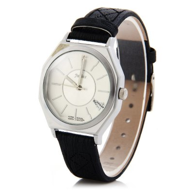 Гаджет   Julius JA-790 Genuine Leather Band Women Quartz Watch with Diamond-shaped Mirror