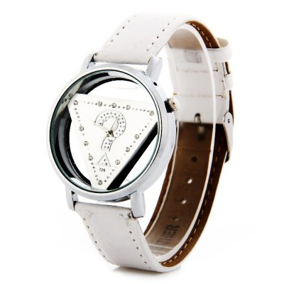 WoMaGe 729 Unisex Question Mark Triangle Pattern Quartz Watch with Leather StrapUnisex Watches<br>WoMaGe 729 Unisex Question Mark Triangle Pattern Quartz Watch with Leather Strap<br><br>Brand: WoMaGe<br>People: Unisex table<br>Watch style: Fashion<br>Available color: Black, White, Pink, Red<br>Shape of the dial: Round<br>Movement type: Quartz watch<br>Display type: Analog<br>Case material: Alloys<br>Band material: Leather<br>Clasp type: Pin buckle<br>The dial thickness: 1.0 cm / 0.39 inches<br>The dial diameter: 3.8 cm / 1.49 inches<br>The band width: 1.9 cm / 0.75 inches<br>Wearable Length:: 18.5 - 22 cm / 7.28 - 8.66 inches<br>Product weight: 0.030 kg<br>Package weight: 0.08 kg<br>Product size (L x W x H) : 24 x 3.8 x 1 cm / 9.43 x 1.49 x 0.39 inches<br>Package size (L x W x H): 25 x 4.8 x 2 cm / 9.83 x 1.89 x 0.79 inches<br>Package contents: 1 x WoMaGe 729 Watch