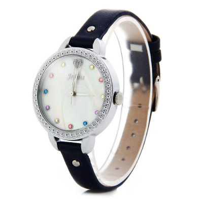 Гаджет   Julius JA-822 Glossy Genuine Leather Band Women Quartz Watch