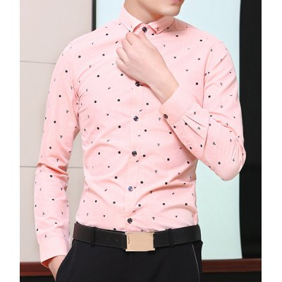 Refreshing Fitted Turn-down Collar Anchor Print Long Sleeves Mens Cotton Blend ShirtMens Shirts<br>Refreshing Fitted Turn-down Collar Anchor Print Long Sleeves Mens Cotton Blend Shirt<br><br>Shirts Type: Casual Shirts<br>Material: Polyester, Cotton<br>Sleeve Length: Full<br>Collar: Turn-down Collar<br>Weight: 0.327KG<br>Package Contents: 1 x Shirt