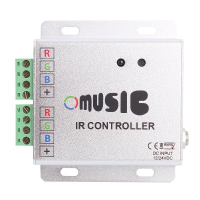 Гаджет   3 Channels LED Light Strip RGB Music Controller with IR Remote Control 12A DC 12 - 24V LED Accessories