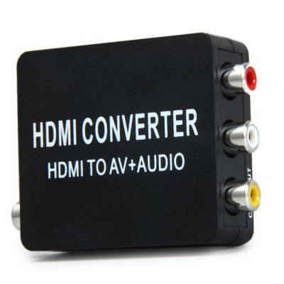 Фотография Mini HDMI to AV Composite Video Converter with SODIF Coaxial Output Support PAL / NTSC TV Formats