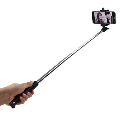 Portable Bluetooth Wireless RC Self Timer Stretch Camera Monopod with 270 Degrees Rotating Clip Stand
