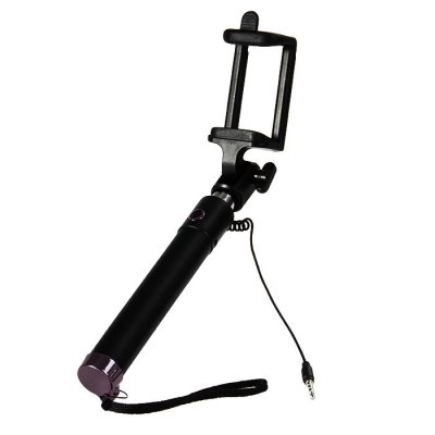 Гаджет   Portable 3.5mm Jack Cable Stretch Selfie Monopod Stick Remote Control Shutter with Phone Holder iPhone Selfie Monopod