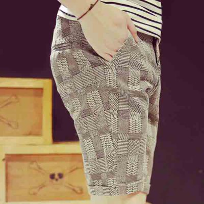 Гаджет   Casual Style Straight Leg Classic Checked Pattern Zipper Fly Men