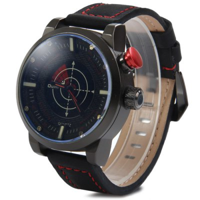 Гаджет   Oulm 3558 Analog Digital Dual Movt LED Scanning Men Watch with Leather Band Men