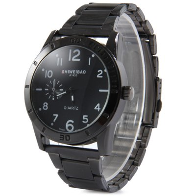 ФОТО Shiweibao A1453 Decorative Sub-dial Male Quartz Watch with stainless Steel Strap