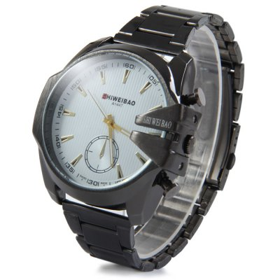 ФОТО Shiweibao A1447 Decorative Sub-dial Male Quartz Watch with Stainless Steel Strap