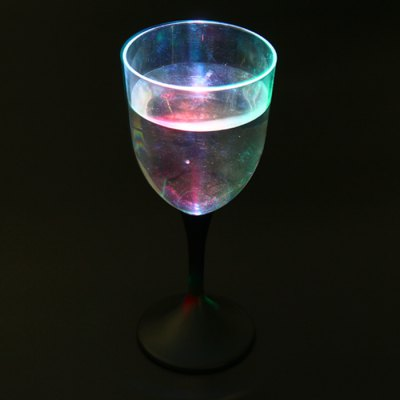 LED Flashing Red Wine Goblet Light Up Wineglass Creative Gift Plastic Party Cup 310ML