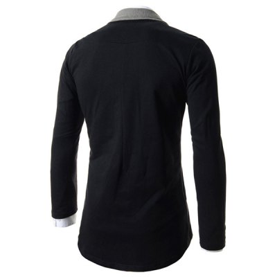 Fashion Turndown Collar Color Block Splicing Slimming Long Sleeve Cotton Blend Cardigan For MenMens Sweaters &amp; Cardigans<br>Fashion Turndown Collar Color Block Splicing Slimming Long Sleeve Cotton Blend Cardigan For Men<br><br>Type: Cardigans<br>Material: Polyester, Cotton<br>Sleeve Length: Full<br>Collar: Turn-down Collar<br>Technics: Computer Knitted<br>Style: Fashion<br>Weight: 0.326KG<br>Package Contents: 1 x Cardigan