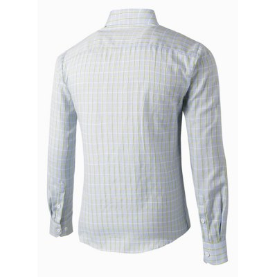 Vogue Shirt Collar Light Color Checked Design Slimming Long Sleeve Polyester Shirt For MenMens Shirts<br>Vogue Shirt Collar Light Color Checked Design Slimming Long Sleeve Polyester Shirt For Men<br><br>Shirts Type: Casual Shirts<br>Material: Polyester<br>Sleeve Length: Full<br>Collar: Turn-down Collar<br>Weight: 0.227KG<br>Package Contents: 1 x Shirt