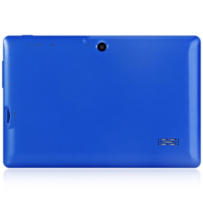 Q88H 7 inch Android 4.4 Tablet PCTablet PCs<br>Q88H 7 inch Android 4.4 Tablet PC<br><br>Type: Tablet PC<br>OS: Android 4.4<br>CPU Brand: All Winner<br>CPU: A33<br>GPU: Mali-400 MP<br>Core: Quad Core, 1.3GHz<br>RAM: 512MB<br>ROM: 8GB<br>Support Network: WiFi<br>WiFi: 802.11b/g/n wireless internet<br>Bluetooth: Yes<br>Screen type: Capacitive (5-Point)<br>Screen size: 7 inch<br>Screen resolution: 800 x 480 (WVGA)<br>Camera type: Dual cameras (one front one back)<br>Back camera: 0.3MP<br>Front camera: 0.3MP<br>TF Card Slot: Yes<br>Micro USB Slot: Yes<br>DC Jack: Yes<br>3.5mm Headphone Jack: Yes<br>Battery Capacity: 3000mAh<br>Battery / Run Time (up to): 3 hours video playing time<br>AC adapter: 100-240V 5V 2A<br>G-sensor: Supported<br>Skype: Supported<br>Youtube: Supported<br>Speaker: Supported<br>MIC: Supported<br>Picture format: JPEG, GIF, BMP, PNG<br>Music format: MP3, OGG, WAV, WMA, AAC<br>Video format: MP4, RMVB, WMV, AVI, 3GP<br>MS Office format: PPT, Word, Excel<br>E-book format: TXT, PDF<br>3D Games: Supported<br>Languages: Dutch, French, Spanish, Russian, German, Portuguese, Italian, English<br>Note: If you need any specific language other than English and you must leave us a message when you checkout<br>Additional Features: Calendar, E-book, Bluetooth, Calculator, MP3, Wi-Fi, Gravity Sensing System, MP4, WAP, Sound Recorder, Browser<br>Product size: 18.3 x 12 x 0.8 cm / 7.19 x 4.72 x 0.31 inches<br>Package size: 24 x 16 x 6 cm / 9.43 x 6.29 x 2.36 inches<br>Product weight: 0.285 kg<br>Package weight: 0.530 kg<br>Tablet PC: 1<br>OTG Cable: 1<br>Charger: 1<br>USB Cable: 1<br>English Manual: 1