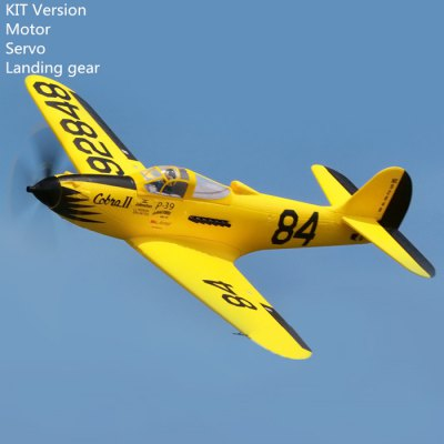 FMS 980mm Wing Span Bell P - 39 Airacobra Style EPO Material Fighter Plane RC Toy PNP Version with Motor Servo Landing Gear(No Transmitter)