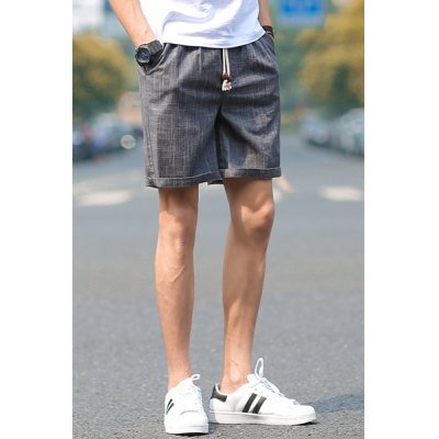 Гаджет   Loose Fit Trendy Lace-Up Sutures Design Straight Leg Men