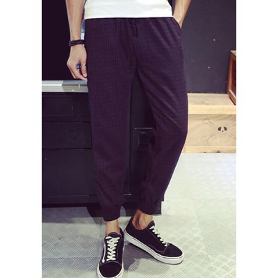 Гаджет   Casual Style Beam Feet Fitted Color Block Elastic Waist Men