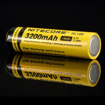 Nitecore NL188 18650 3200mAh 3.7V Rechargeable Protected Lithium-ion Battery