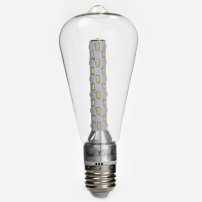 YouOKLight E27 5W 500LM SMD 3014 48 LED Lights Nostalgic Filament Light Soft White Light ( AC 110V )LED Light Bulbs<br>YouOKLight E27 5W 500LM SMD 3014 48 LED Lights Nostalgic Filament Light Soft White Light ( AC 110V )<br><br>Brand : YouokLight<br>Base Type: E27<br>Type: Ball Bulbs<br>Output Power: 5W<br>Emitter Type: SMD-3014 LED<br>Total Emitters: 48<br>Actual Lumen(s): 500Lm<br>Wavelength/Color Temperature: 3000K<br>Voltage (V): AC 110<br>Angle: 270 degree<br>Features: Retro Edison Style<br>Function: Home Lighting, Studio and Exhibition Lighting, Commercial Lighting<br>Available Light Color: Warm White<br>Sheathing Material: Glass<br>Product Weight: 0.080 kg<br>Package Weight: 0.14 kg<br>Product Size (L x W x H): 16 x 6 x 6 cm / 6.29 x 2.36 x 2.36 inches<br>Package Size (L x W x H): 17 x 7 x 7 cm / 6.68 x 2.75 x 2.75 inches<br>Package Contents: 1 x YouOKLight Retro Light Bulb