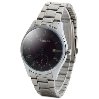 ФОТО Xinslon K255 Men Water Resistant Date Display Quartz Watch with Stainless Steel Strap