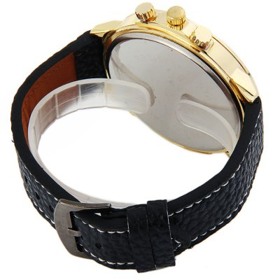 Фотография Shiweibao A1106 Big Dial Skull Pattern Male Quartz Watch with Embossed Leather Strap