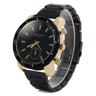 Shiweibao A1447 Big Dial Stainless Steel Band Male Quartz Watch