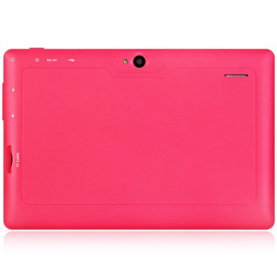 Q88H Android 4.4 Tablet PCFeatured Tablets<br>Q88H Android 4.4 Tablet PC<br><br>Type: Tablet PC<br>OS: Android 4.4<br>CPU Brand: All Winner<br>CPU: A33<br>GPU: Mali-400 MP<br>Core: 1.3GHz,Quad Core<br>RAM: 512MB<br>ROM: 8GB<br>WIFI: 802.11b/g/n wireless internet<br>Support Network: WiFi<br>Bluetooth: Yes<br>Screen type: Capacitive (5-Point)<br>Screen size: 7 inch<br>Screen resolution: 800 x 480 (WVGA)<br>Camera type: Dual cameras (one front one back)<br>Back camera: 0.3MP<br>Front camera: 0.3MP<br>TF card slot: Yes<br>Micro USB Slot: Yes<br>DC Jack: Yes<br>3.5mm Headphone Jack: Yes<br>Battery Capacity: 3000mAh<br>Battery / Run Time (up to): 3 hours video playing time<br>AC adapter: 100-240V 5V 2A<br>G-sensor: Supported<br>Skype: Supported<br>Youtube: Supported<br>Speaker: Supported<br>MIC: Supported<br>Picture format: BMP,GIF,JPEG,PNG<br>Music format: AAC,MP3,OGG,WAV,WMA<br>Video format: 3GP,AVI,MP4,RMVB,WMV<br>MS Office format: Excel,PPT,Word<br>E-book format: PDF,TXT<br>3D Games: Supported<br>Languages: Dutch,English,French,German,Italian,Portuguese,Russian,Spanish<br>Note: If you need any specific language other than English and you must leave us a message when you checkout<br>Additional Features: Bluetooth,Browser,Calculator,Calendar,E-book,Gravity Sensing System,MP3,MP4,Sound Recorder,WAP,Wi-Fi<br>Product size: 18.30 x 12.00 x 0.80 cm / 7.2 x 4.72 x 0.31 inches<br>Package size: 24.00 x 16.00 x 6.00 cm / 9.45 x 6.3 x 2.36 inches<br>Product weight: 0.295 kg<br>Package weight: 0.530 kg<br>Tablet PC: 1<br>OTG Cable: 1<br>Charger: 1<br>USB Cable: 1<br>English Manual : 1