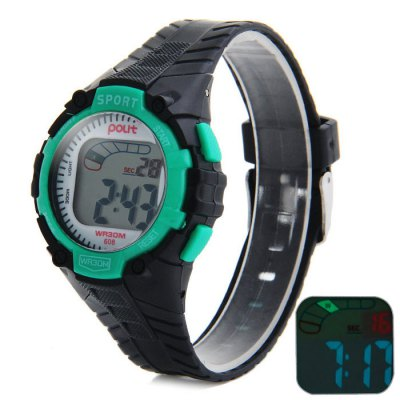 Гаджет   Polit 608 Water Resistant Children Multifunctional LED Watch with Rubber Band Sports Watches