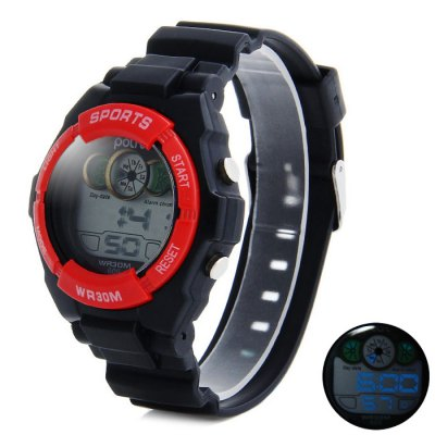 ФОТО Polit 609 Water Resistance Children LED Watch with Date Day Alarm Stopwatch Function Rubber Band