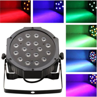 SHARP EAGLE LT 18 x 2W LED RGB Stage PAR Light with Remote Control ( US Plug, 110 - 220V )Stage Lighting<br>SHARP EAGLE LT 18 x 2W LED RGB Stage PAR Light with Remote Control ( US Plug, 110 - 220V )<br><br>Brand: SHARP EAGLE<br>Model: LT<br>Type: Par Light, RGB Stage Light, DJ and Disco Light<br>Color: RGB light<br>Output Power: 27W (actual output power)<br>Voltage: 110 - 220V<br>Lifespan: 500000 - 1000000 hrs<br>Function: For Decoration, For party<br>Shape: Cylinder<br>Material: Stainless Steel + A Grade ABS<br>Product Weight: 4.000 kg<br>Package Weight: 5 kg<br>Product Size(L x W x H): 17 x 8 x 17 cm / 6.68 x 3.14 x 6.68 inches<br>Package Size (L x W x H): 19 x 11 x 19 cm / 7.47 x 4.32 x 7.47 inches<br>Package Contents: 1 x LED PAR Light, 1 x Remote Controller, 1 x Holder