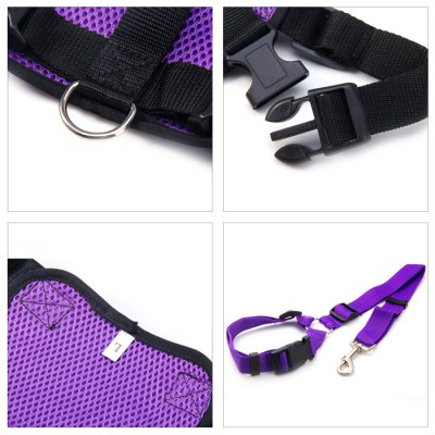 Фотография Dog Leash Safety Net Chest Harness Set for Outdoor ( L Size )