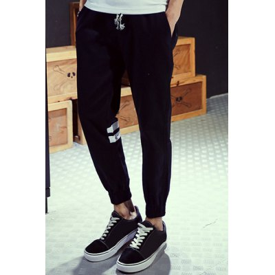 Гаджет   Loose Fit Trendy Lace-Up Star and Stripe Print Beam Feet Men