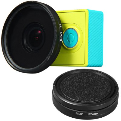 52mm Filter Lens + Lens Cover Set for Xiaomi Yi Action Camera