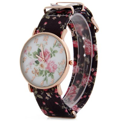 Fresh Style Floral Print Design Female Quartz Watch with Leather StrapWomens Watches<br>Fresh Style Floral Print Design Female Quartz Watch with Leather Strap<br><br>Watches categories: Female table<br>Available color: Red, Green, Purple, Brown, White<br>Style : Fashion&amp;Casual<br>Movement type: Quartz watch<br>Shape of the dial: Round<br>Display type: Analog<br>Case material: Alloy<br>Band material: Leather<br>Clasp type: Pin buckle<br>The dial thickness: 1.0 cm / 0.39 inches<br>The dial diameter: 4.0 cm / 1.57 inches<br>The band width: 2.1 cm / 0.83 inches<br>Wearable Length:: 19 - 23.5 cm / 7.48 - 9.25 inches<br>Product weight: 0.038 kg<br>Package weight: 0.088 kg<br>Product size (L x W x H) : 26 x 4 x 1.2 cm / 10.22 x 1.57 x 0.47 inches<br>Package size (L x W x H): 27 x 5 x 2.2 cm / 10.61 x 1.97 x 0.86 inches<br>Package contents: 1 x Floral Print Watch