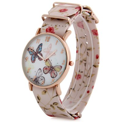 Butterfly Dial Ladies Fresh Style Quartz Watch Floral Print Leather Strap WristwatchWomens Watches<br>Butterfly Dial Ladies Fresh Style Quartz Watch Floral Print Leather Strap Wristwatch<br><br>Watches categories: Female table<br>Available color: Gray, White, Pink, Red, Green<br>Style : Fashion&amp;Casual<br>Movement type: Quartz watch<br>Shape of the dial: Round<br>Display type: Analog<br>Case material: Alloy<br>Band material: Leather<br>Clasp type: Pin buckle<br>The dial thickness: 1.0 cm / 0.39 inches<br>The dial diameter: 4.0 cm / 1.57 inches<br>The band width: 2.1 cm / 0.83 inches<br>Wearable Length:: 20 - 24.5 cm / 7.87 - 9.65 inches<br>Product weight: 0.039 kg<br>Package weight: 0.089 kg<br>Product size (L x W x H) : 27 x 4 x 1.2 cm / 10.61 x 1.57 x 0.47 inches<br>Package size (L x W x H): 28 x 5 x 2.2 cm / 11.00 x 1.97 x 0.86 inches<br>Package contents: 1 x Floral Print Watch