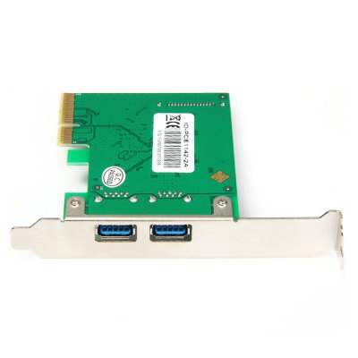 IOCREST PCI Express to 2 Ports USB 3.1 Host Controller Card 10Gbps Super Speed