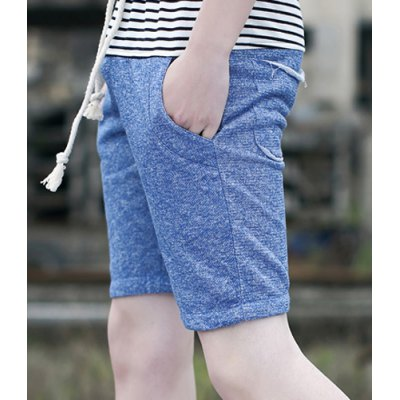 Гаджет   Slimming Fashion Lace-Up Color Block Stripe Splicing Straight Leg Men