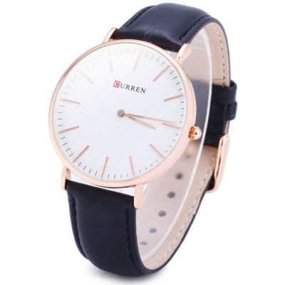 Curren 8209G Men Business Quartz Watch with Leather Band