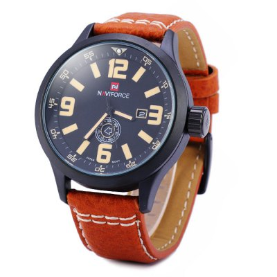 Naviforce 9057 Water Resistance Male Japan Quartz Watch