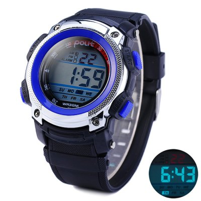 Гаджет   Polit 621 Water Resistant LED Sports Watch with Rubber Band Sports Watches