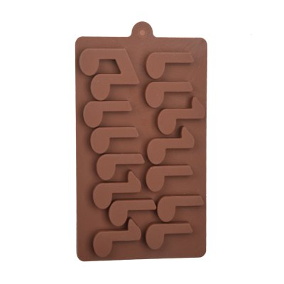 15-Cup DIY Silicone Music Notation Baking Mold DIY Kitchen Modes Set for Cake / Biscuit / Chocolate