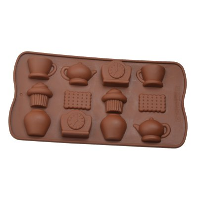 Гаджет   12-Cup DIY Silicone Clock Teapot Style Baking Mold DIY Kitchen Modes Set for Cake / Biscuit / Chocolate Kitchen & Dining