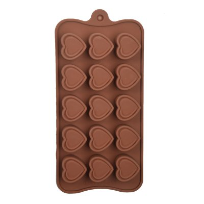 15-Cup DIY Silicone Heart Style Baking Mold DIY Kitchen Modes Set for Cake / Biscuit / ChocolateBaking &amp; Pastry Tools<br>15-Cup DIY Silicone Heart Style Baking Mold DIY Kitchen Modes Set for Cake / Biscuit / Chocolate<br><br>Type: Baking Mold<br>For: Candy Chocolate Cake<br>Material: Others, Silicon<br>Product weight   : 0.065 kg<br>Package weight   : 0.120 kg<br>Product size (L x W x H)   : 22.5 x 10.6 x 2 cm / 8.84 x 4.17 x 0.79 inches<br>Package size (L x W x H)  : 25 x 12 x 3 cm / 9.83 x 4.72 x 1.18 inches<br>Package Contents: 1 x Baking Mold