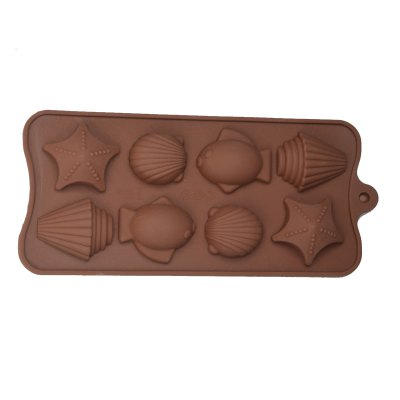 Гаджет   8-Cup DIY Silicone Fish and Shellfish Style Baking Mold DIY Kitchen Modes Set for Cake / Biscuit / Chocolate Kitchen & Dining