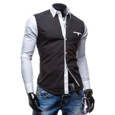 Fashion Shirt Collar Pocket Design Color Block Splicing Slimming Long Sleeve Polyester Button-Down Shirt For MenMens Shirts<br>Fashion Shirt Collar Pocket Design Color Block Splicing Slimming Long Sleeve Polyester Button-Down Shirt For Men<br><br>Shirts Type: Casual Shirts<br>Material: Polyester<br>Sleeve Length: Full<br>Collar: Turn-down Collar<br>Weight: 0.228KG<br>Package Contents: 1 x Shirt
